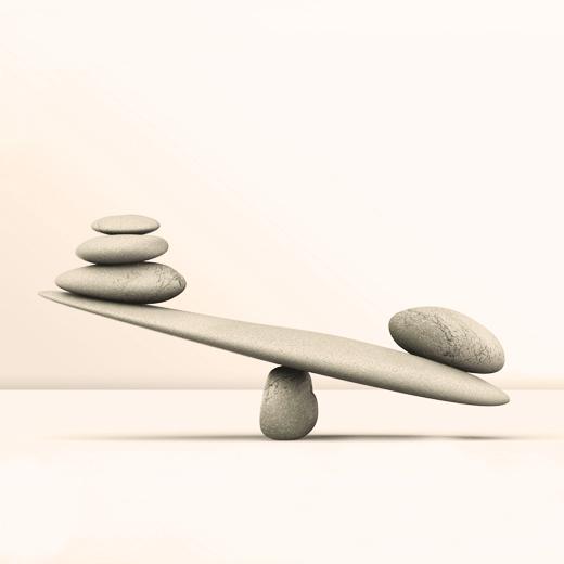 Balancing stones: A metaphor