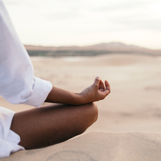 Yoga is a great way to get in touch with yourself.